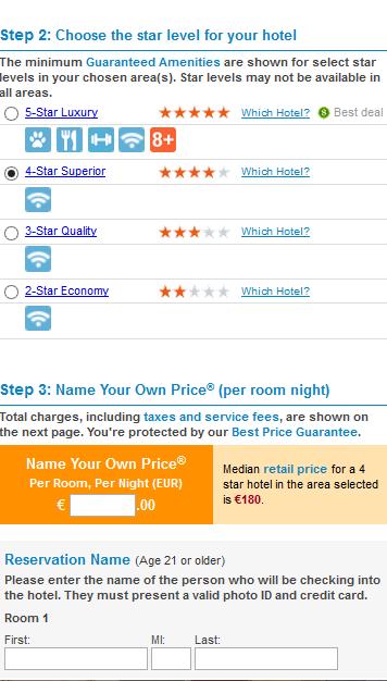 trovare hotel -priceline
